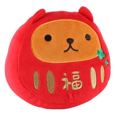 kapibarasan 水豚君福氣吉祥公仔。紅色