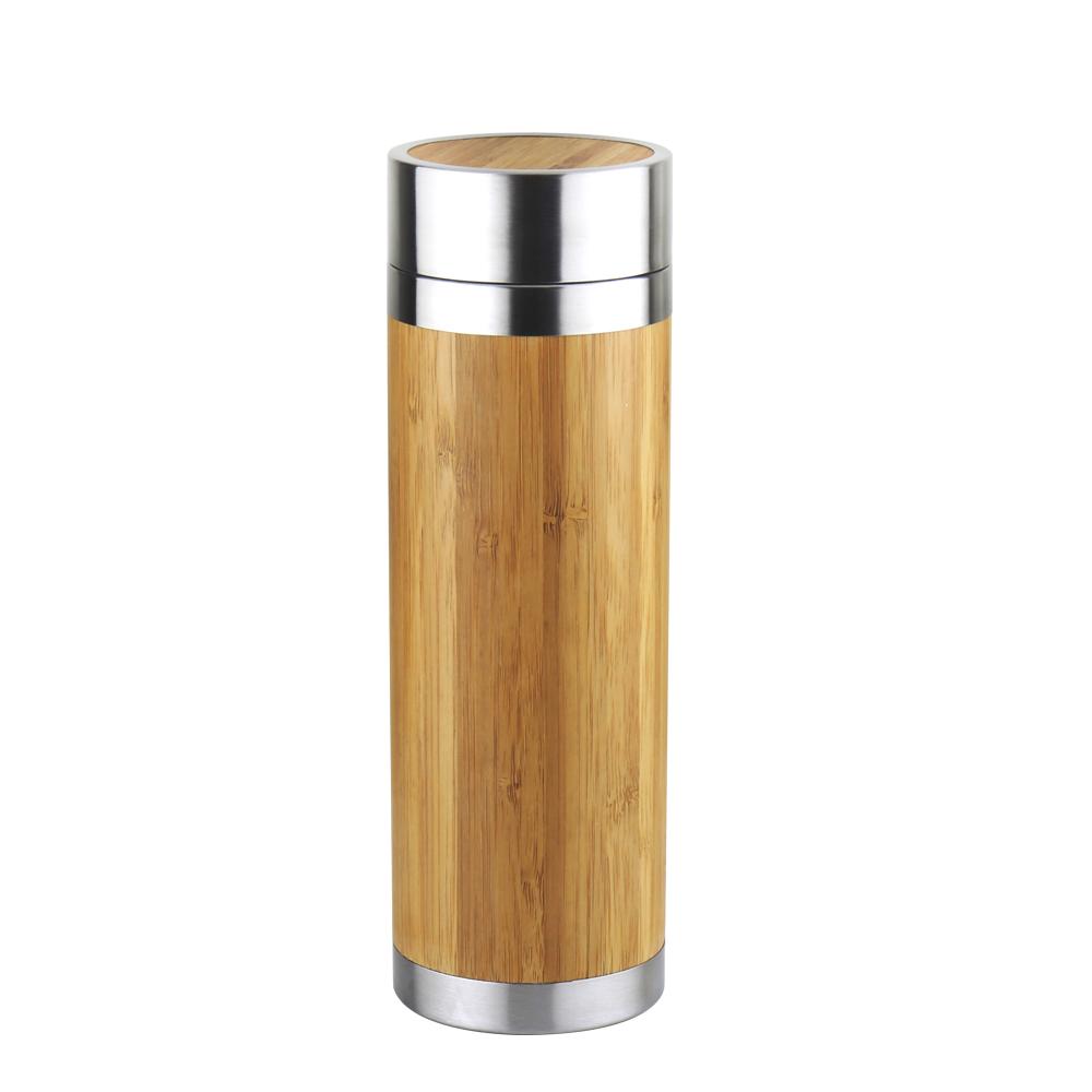 WOKY沃廚 316不鏽鋼和風竹雅真空保冷保溫瓶300ML附濾茶網