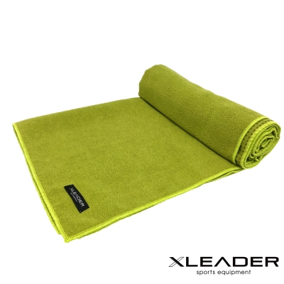 Leader X 超細纖維吸汗止滑瑜珈鋪巾 綠色
