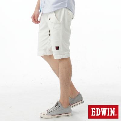EDWIN-存在主義-503-KHAKI-拉鍊短褲-男款-白色