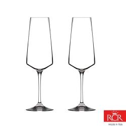 義大利RCR艾瑞爾無鉛水晶香檳杯(2入)350cc