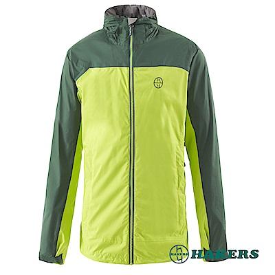 【HAKERS 】男-2.5L防水透氣外套-綠色