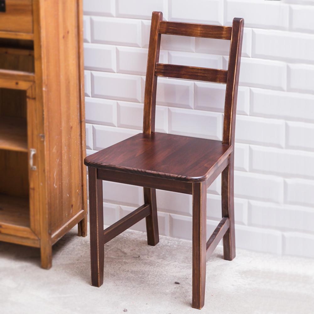 CiS自然行實木家具- 北歐實木書椅(焦糖色)原木椅墊