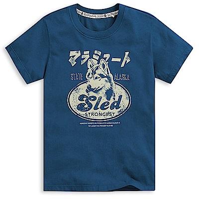 101原創 sledDog短袖T恤上衣-曠藍