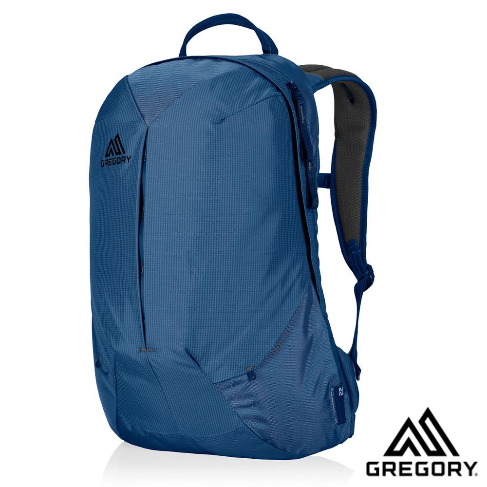 【美國 GREGORY】Sketch 22L 減震透氣耐磨防潑水登山健行後背包_印第哥藍