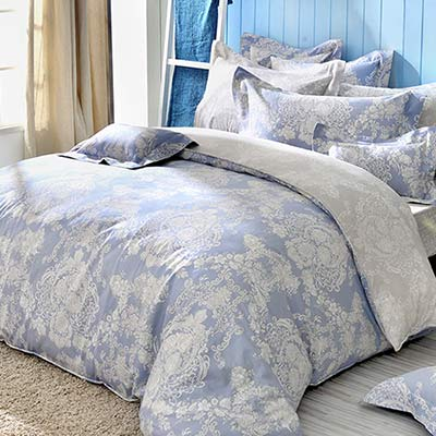 義大利La Belle 蘭陵世紀 特大八件式防蹣抗菌舖棉兩用被床罩組