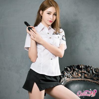 角色扮演 經典黑白警察角色扮演服二件組(黑+白F) Caelia