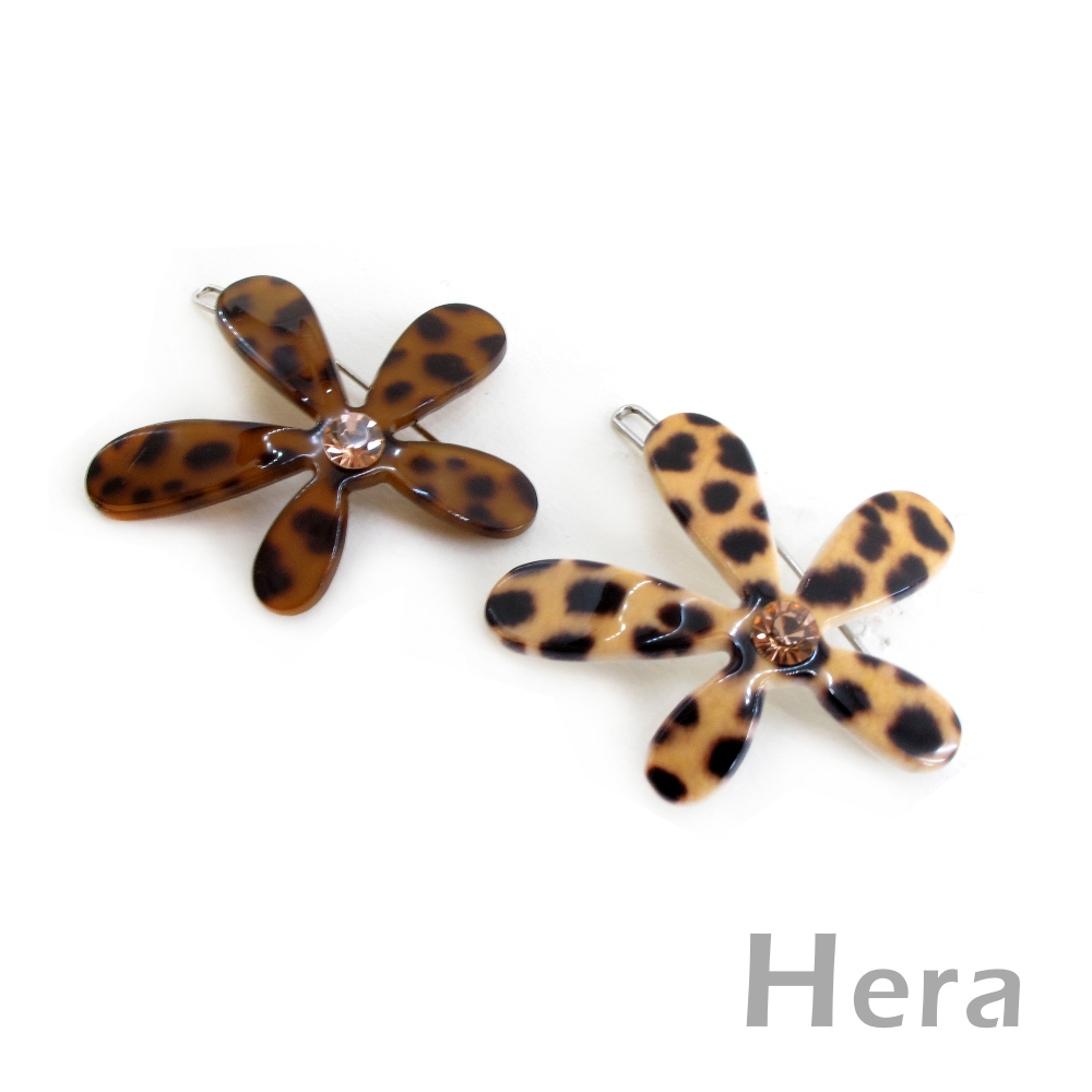 【Hera】幸福花漾 五葉小花造型髮扣/髮夾(二色-淺咖啡)