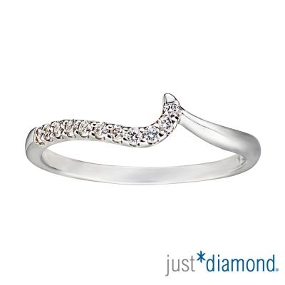Just Diamond 18K金鑽石線戒-情挑