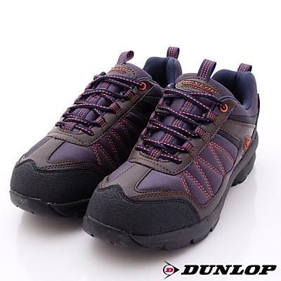 日本DUNLOP機能健走鞋-4E寬楦DU666-NB咖藍-男段