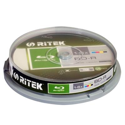 錸德 Ritek 藍光 X版 BD-R 6X 25GB 珍珠白滿版可印片 (50片)