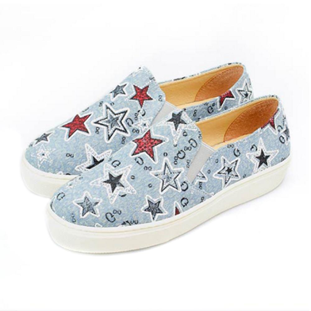 FUFA MIT 星空俏皮懶人鞋 (FE53)-淺藍色