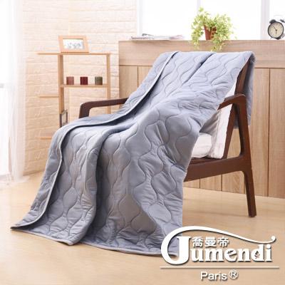 喬曼帝Jumendi 超涼感纖維針織涼被(5x6尺)-個性灰