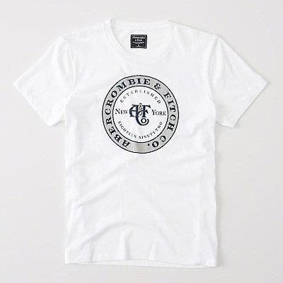 AF a&f Abercrombie & Fitch 短袖 T恤 白 0674