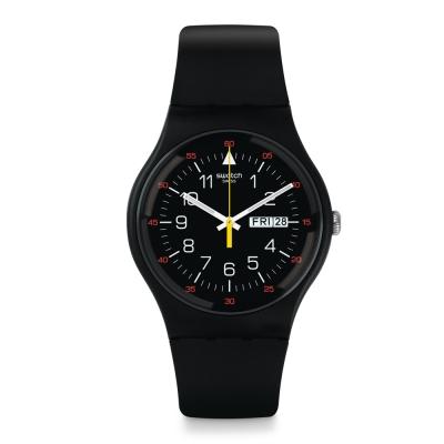 Swatch 原創系列 YOKORACE 酷黑時尚手錶