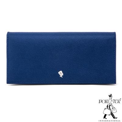PORTER-成熟格調RIPE真皮多夾層長夾-藍