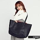 H:CONNECT 韓國品牌皮革子母托特包-黑