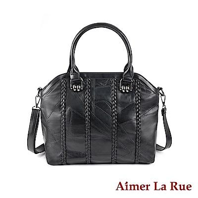 Aimer La Rue 手提側背包 羊皮知性OL 系列(黑色)