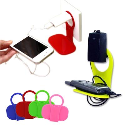 kiret 輕量型 手機架 手機充電-超值 3 入折疊 插座式-多色隨機