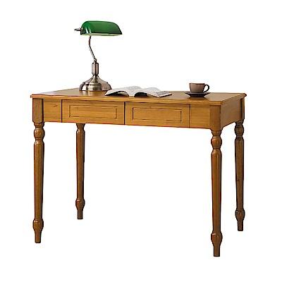 Bernice-雅納3.3尺法式古典二抽實木書桌(兩色可選)-100x60x74cm
