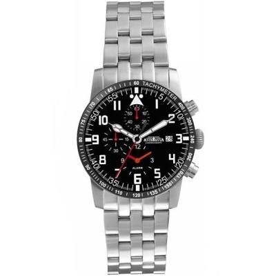 AstroAvia 火力駭天計時鬧鈴碼錶-黑/42mm
