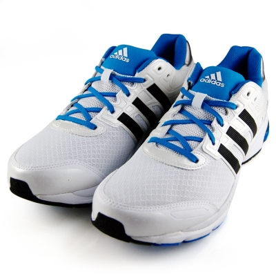 (男)ADIDAS-LIGHTSTER慢跑鞋-白藍