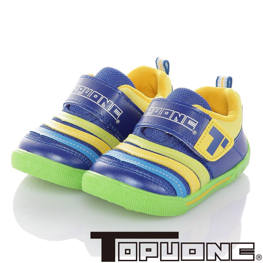 TOPUONE 輕量透氣抗菌防臭童鞋-藍