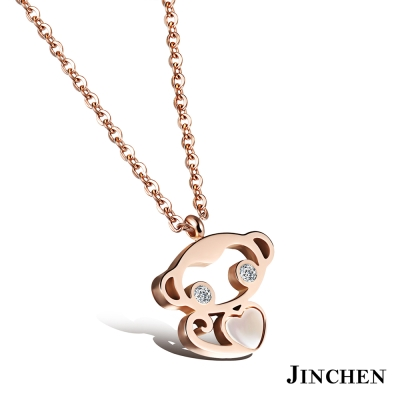 JINCHEN 白鋼小猴子項鍊