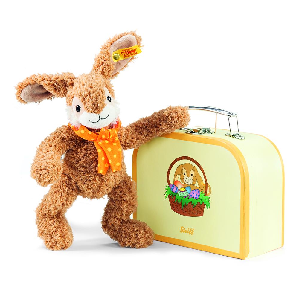 STEIFF德國精品泰迪熊 - Jully Rabbit 26cm (行李箱系列)