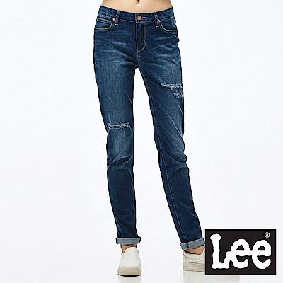 Lee 牛仔褲 409中腰合身小直筒牛仔褲-女款