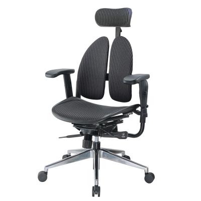 Bernice-德國專利雙背多機能網布電腦椅-70x70x110~127cm