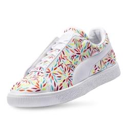 PUMA-Clyde Fashion Kiku FM 女性復古籃球運動鞋-白色