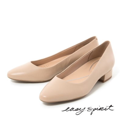 Easy Spirit--經典素色尖頭低跟鞋-好感膚