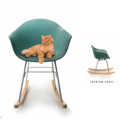 TOOU 義大利品牌 TA系列 巴貝里諾搖椅  橡木原木色椅腳