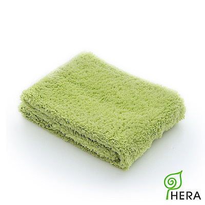 HERA 3M專利瞬吸快乾抗菌超柔纖-洗臉巾-香草綠