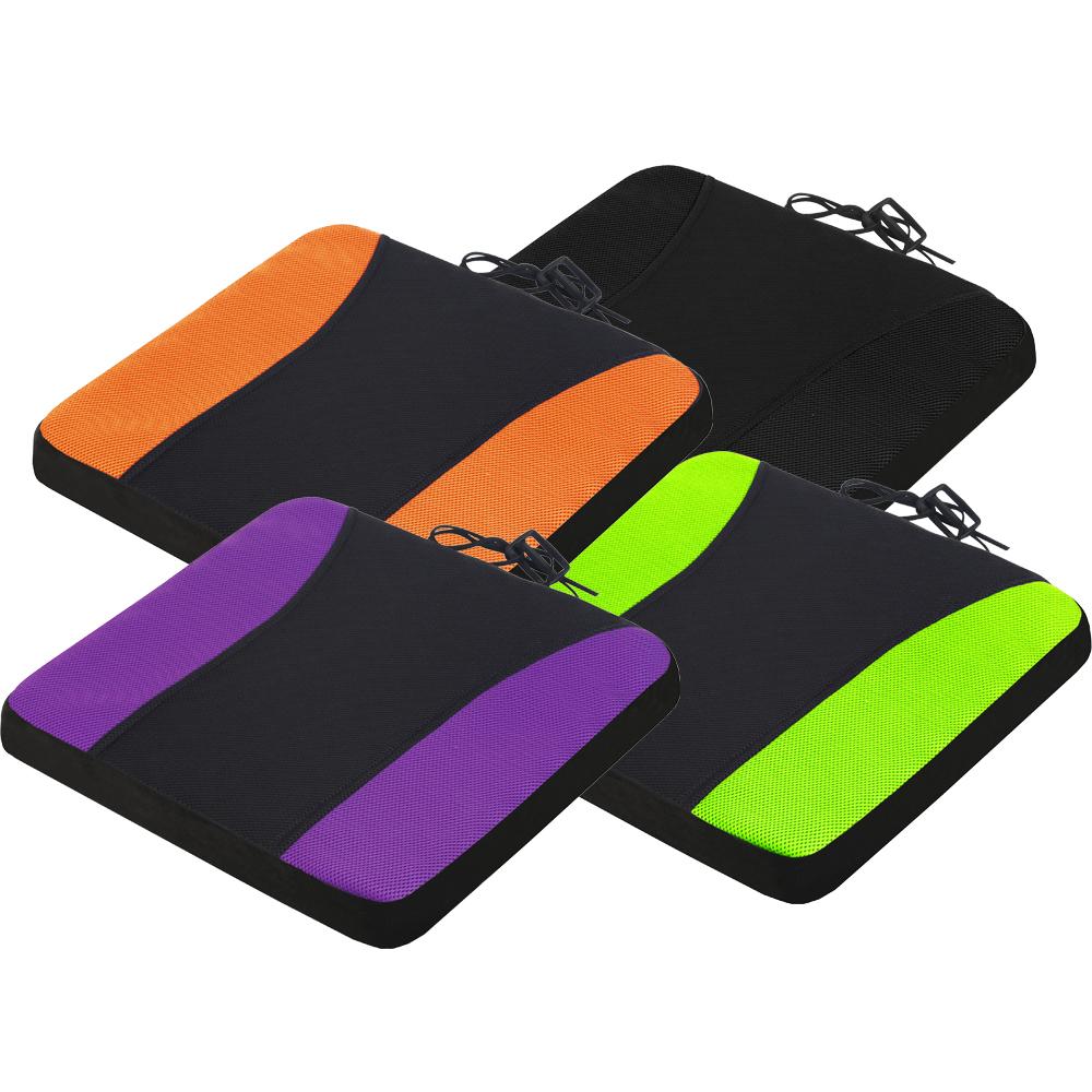 CARBUFF 車痴竹炭透氣波浪記憶坐墊/厚4cm±1 四色可選(黑/橘/紫/綠)