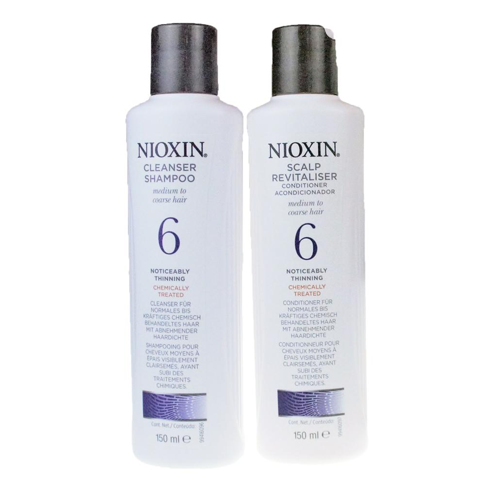 NIOXIN 耐奧森(儷康絲) 組合6號潔髮乳+甦活乳300ML 公司貨