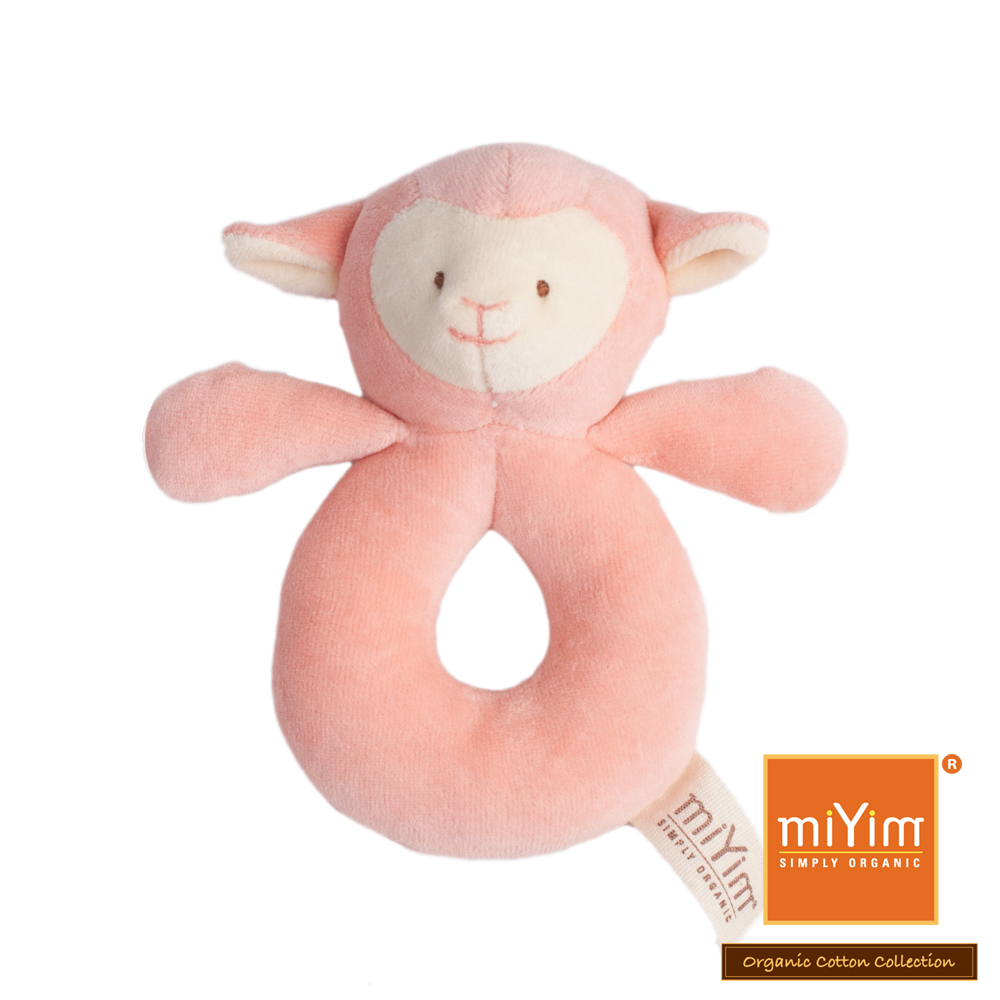 美國miYim有機棉安撫手搖鈴-亮寶羊羊