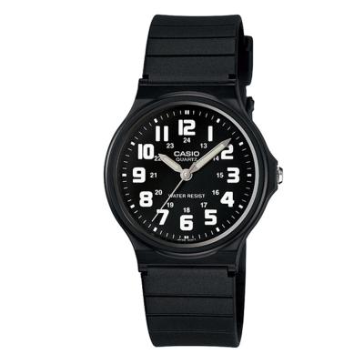 CASIO輕巧實用數字時刻經典指針錶(MQ-71-1B)-黑X白時刻/34.9mm