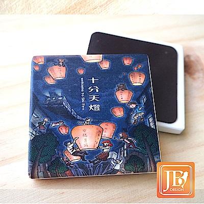 JB Design_就是愛台灣杯墊方磁鐵-557_飛翔天燈