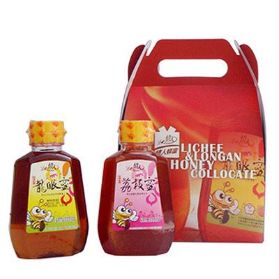 【情人蜂蜜】小情人蜂蜜禮盒375g*2(龍眼蜜/荔枝蜜)