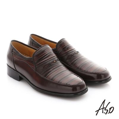 A.S.O 勁步雙核心 全真皮奈米紳士鞋 咖啡色