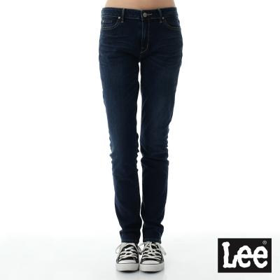 Lee 牛仔褲409中腰合身直筒牛仔褲/RG-女款-藍