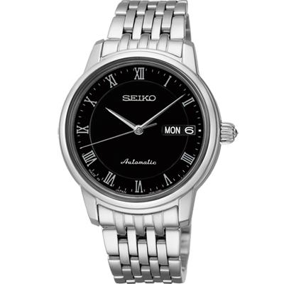SEIKO Presage 羅馬仕女機械腕錶(SRP885J1)-黑34mm