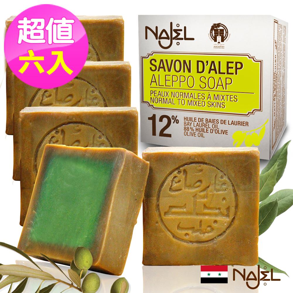 正宗敘利亞Najel 月桂油12%阿勒坡手工古皂200g六入