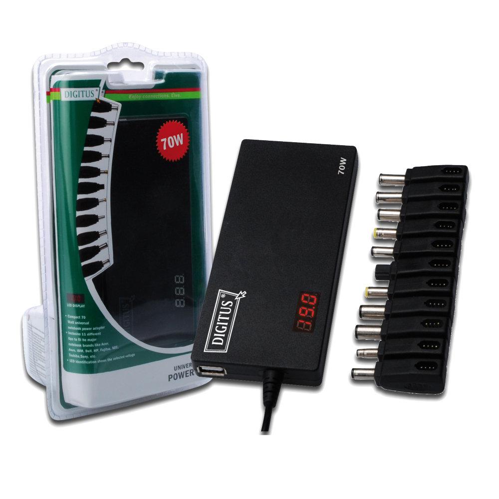 曜兆DIGITUS通用平板USB充電孔加70W筆電變壓器(平板筆電雙充電)