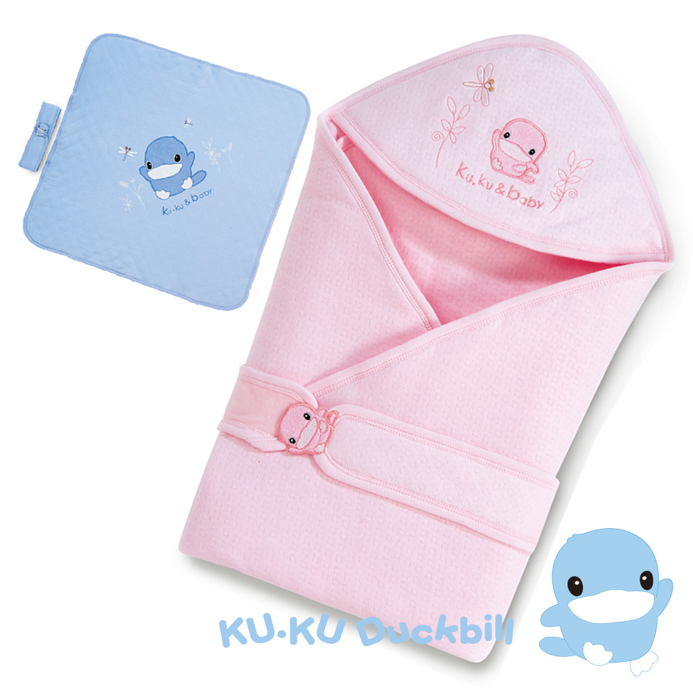 KU.KU酷咕鴨-造型抱巾-粉