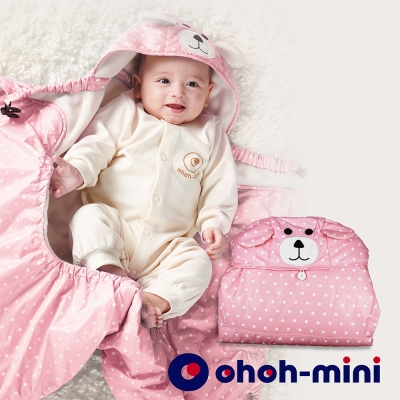 【ohoh-mini 孕婦裝】波卡熊系列 - 智能IQ恆溫保暖披風 – 粉色點點