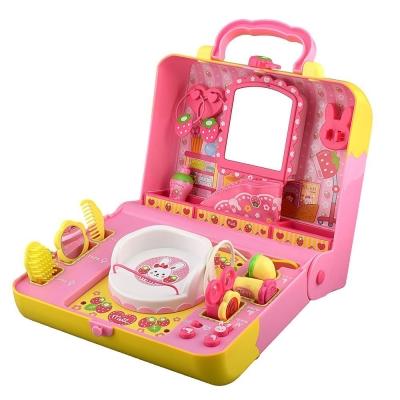 Amuzinc酷比樂 小美樂娃娃系列  場景組 便攜式聲光手提箱 草莓美容院