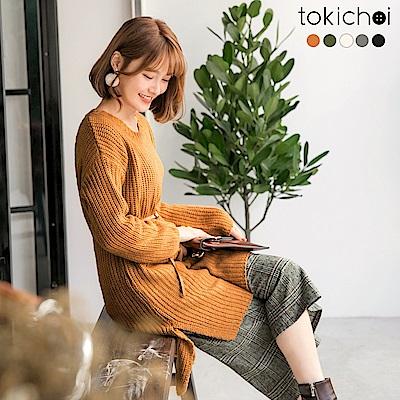 東京著衣 多色秋冬百搭素面長版針織上衣(共五色)